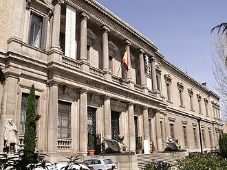 National Archaeological Museum of Spain - Museum's main facade