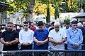 Muslims perform the Eid Al-Adha prayer at Eyup Sultan Mosque 2019-08-11 04.jpg