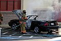 Mustang car fire at CVS on Key West Highway in North Potomac MD July 12 2012 (7575616108).jpg