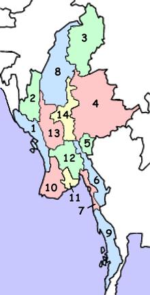 Stati e regioni birmane
