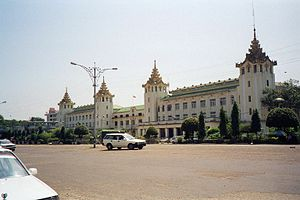 Myanmar-Yangon-Main train station
