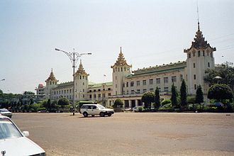 Rail transport in Myanmar - Yangon Central Railway Station in Yangon