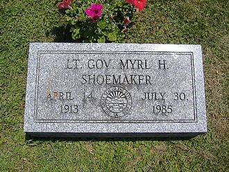 Myrl Shoemaker - Image: Myrl Shoemaker grave marker