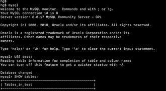 MySQL - Image: Mysql screenshot