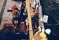 """NATIONAL OCEANOGRAPHIC AND ATMOSPHERIC ADMINISTRATION SHIP """"FERREL"""" WITH CREW CHECKING CURRENT METERS IN THE NEW YORK... - NARA - 555827.jpg"""
