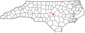 Buies Creek, North Carolina - Image: NC Map doton Buies Creek