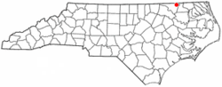 Location of Severn, North Carolina