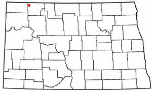 Larson, North Dakota - Image: ND Map doton Larson