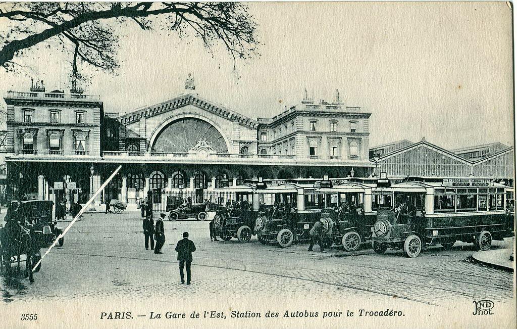 File nd 3555 paris la gare de l 39 est station des for La poste porte de saint cloud