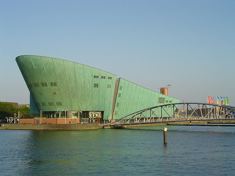The NEMO building is designed by Renzo Piano
