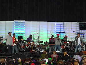N.E.R.D - N.E.R.D performing at the Virgin Festival in Ontario, Canada, 2009
