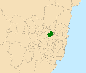 Electoral district of Ryde - Location within Sydney