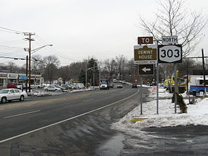 New Jersey Route 303 - Image: NY303Southern Terminus