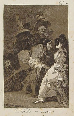 Capricho nº 6: Nadie se conoce de Goya, serie ...