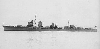 Yūgumo-class destroyer - Image: Naganami
