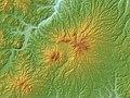 Nanashigure Volcano Relief Map, SRTM-1.jpg