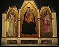 Nardo di cione, madonna col bambino e santi, con storie di san giobbe nella predella 01.JPG