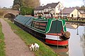 Narrowboat 'Chiswick' moored by bridge 23, Grand Union Canal - geograph.org.uk - 1573873.jpg
