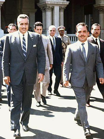 Nasser and Hussein at 1964 Arab Summit.jpg