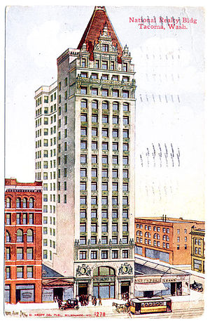 Key Bank Center - Postcard published c.1910s