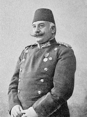 Nazım Pasha - Nazım Pasha in military uniform.