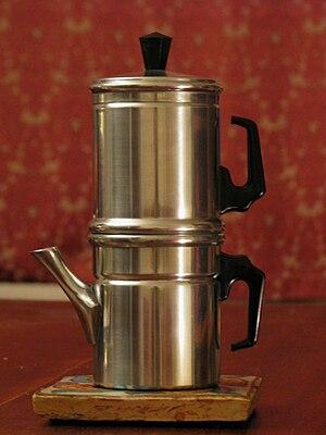 Neapolitan flip coffee pot - Image: Neapolitan flip coffee pot