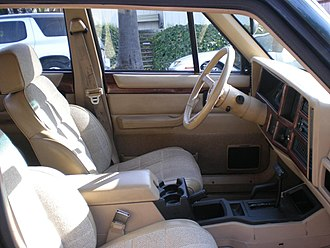 Jeep Cherokee (XJ) - 1993 Cherokee Country interior