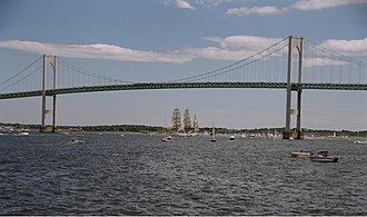 Claiborne Pell Newport Bridge - Image: Newport Bridge RI
