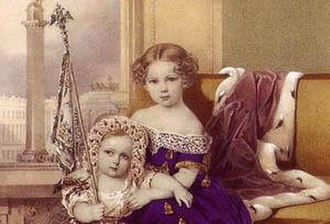Grand Duchess Alexandra Alexandrovna of Russia - Alexandra with her younger brother Nicholas.