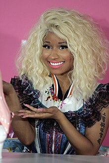 Minaj at the launch of her fragrance Pink Friday in Sydney, Australia, November 2012.