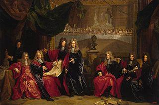 Provost and Municipal Magistrates of Paris Discussing the Celebration of Louis XIV's Dinner at the Hotel de Ville after his Recovery in 1687