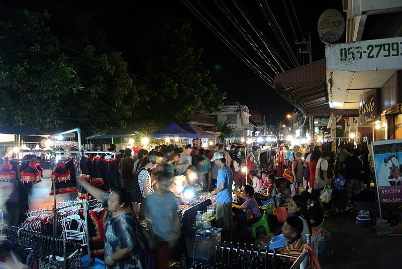 File:Night Market Chiang Mai.jpg