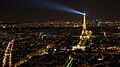 Night view of La Tour Eiffel, taken from Tour Maine-Montparnasse.JPG
