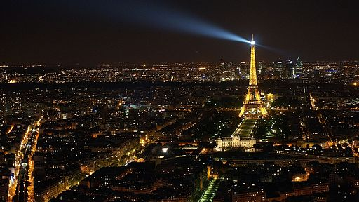 Night view of La Tour Eiffel, taken from Tour Maine-Montparnasse