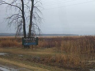 Ninette, Manitoba - Image: Ninette Manitoba Welcome Sign
