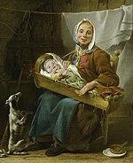 Peinture d'une Savoyarde en 1757
