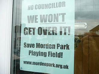 """Morden Park - A poster to Save Morden Park"""""""