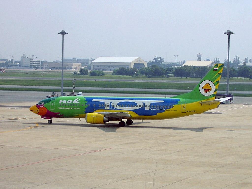 Nok Air B737-4D7 (HS-TDE) at Don Muang International Airport