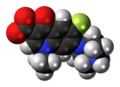 Norfloxacin zwitterion spacefill.png