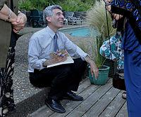 Norman Solomon meets voters, summer 2011.jpg