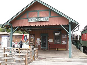 North Creek Railroad Station - The station in August 2010