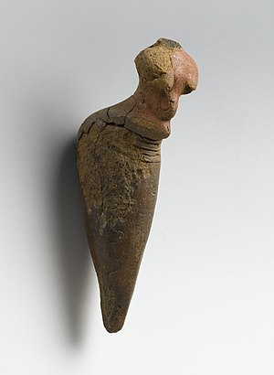 Nubia - Nubian Terracotta Female Figurine, from the Neolithic period ca. 3500-3100 B.C.E. Brooklyn Museum