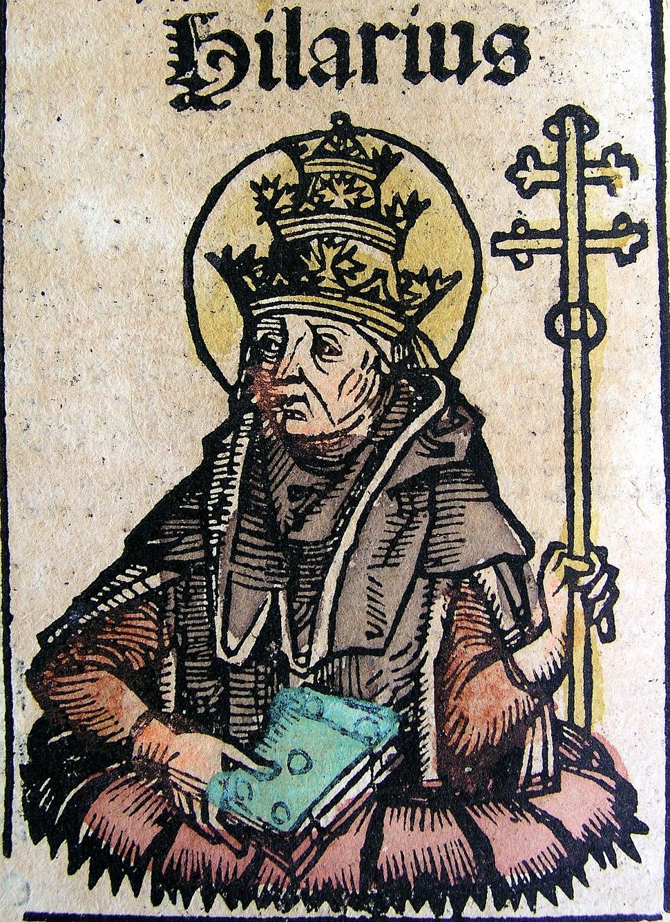 Nuremberg chronicles - Hilarius, Pope (CXXXVIv)