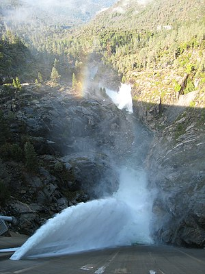 Tuolumne River - Flood water is released from Hetch Hetchy Reservoir into the Tuolumne River