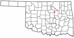 Location of Drumright, Oklahoma