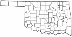 Location of Ochelata, Oklahoma