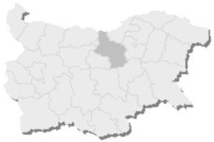4th MMC – Veliko Tarnovo - Map of Bulgaria, 4th MMC - Veliko Tarnovo is highlighted
