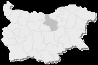4th MMC – Veliko Tarnovo - Map of Bulgaria, 4th MMC - Veliko Tarnovo is highlighted