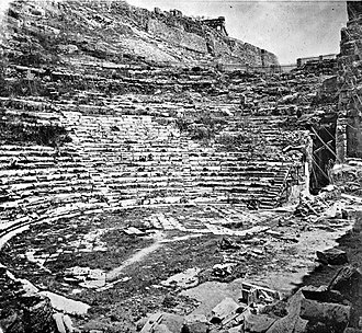 Odeon of Herodes Atticus - Historical image of Odeon of Herodes Atticus (ca. 1880)