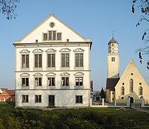 Oettingen in Bayern - Schloss und St. Jakobskirche.JPG